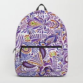 Gloomy purple mandala pattern Backpack