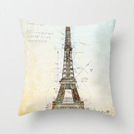 Eiffel Tower, Paris France Throw Pillow
