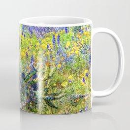 Staghorn Cholla Amid the Desert Wildflowers Coffee Mug