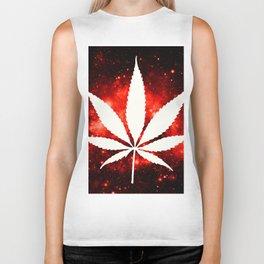 Weed : High Times Red Galaxy Biker Tank