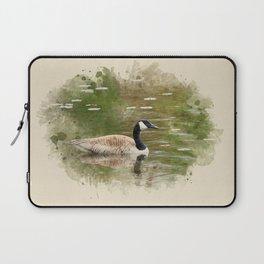 Watercolor Goose Art Laptop Sleeve