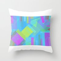 fifth element Throw Pillows featuring Element by Mariana Lisina