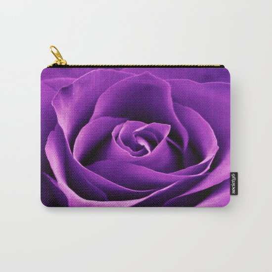 Purple Passion Rose Carry-All Pouch