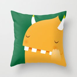 Ivy, the monster Throw Pillow