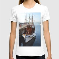 oslo T-shirts featuring Classic Boats In Oslo by Malcolm Snook