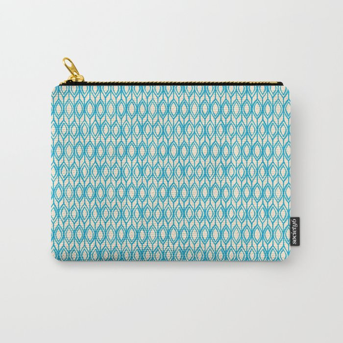 Tulip Knit in blue & cream Carry-All Pouch