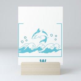 Funny Teacher Shark Doo Doo Doo Doo Your Work Mini Art Print