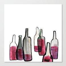 Wine Bottles 2 Canvas Print