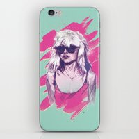 blondie iPhone & iPod Skins featuring Blondie by Dave Merrell