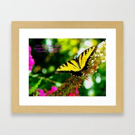 Always Hope - Butterfly with Quote Framed Art Print