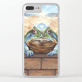 Dust Toad Clear iPhone Case