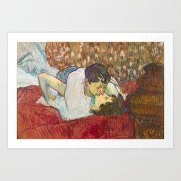 """Henri de Toulouse-Lautrec """"In Bed. The Kiss"""" Art Print"""