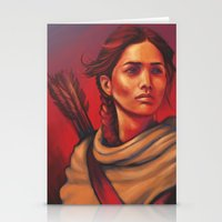 katniss Stationery Cards featuring Katniss by JenHoney