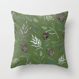 Simple and stylized flowers 15 Throw Pillow