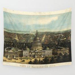 View of Washington City, Washington D.C., (1871) Wall Tapestry