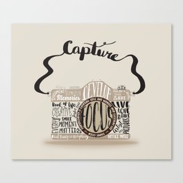 Cute Camera Typography Canvas Print