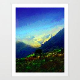 Big Sur Hills Art Print