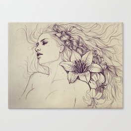 Lion's mane Canvas Print