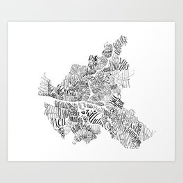 Hamburg City Art Print