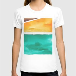 180811 Watercolor Block Swatches 7| Colorful Abstract |Geometrical Art T-shirt