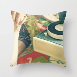 For The Love of Vinyl  Throw Pillow