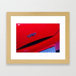 Chery QQ Electric Front Red Framed Art Print