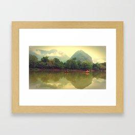 Laos River Framed Art Print