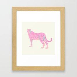 PINK STAR CHEETAH Framed Art Print