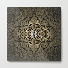Gold embossed Mandala Metal Print