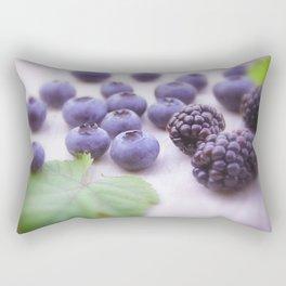 Blue Fruits Rectangular Pillow