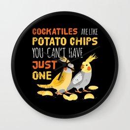 Cockatiels Owner Weir Bird Cockatoo Humor Fun Joke Saying  Wall Clock