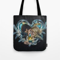 captain swan Tote Bags featuring Captain Swan by Svenja Gosen