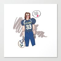friday night lights Canvas Prints featuring Tim Riggins - Friday Night Lights by school tardy