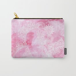 Pink Ampersand Doodle Carry-All Pouch