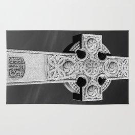 Celtic Stone Cross At Sunset Rug