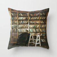 library Throw Pillows featuring Library by dekko