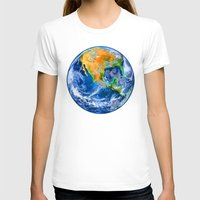 earth T-shirts featuring Earth by Head Rubble