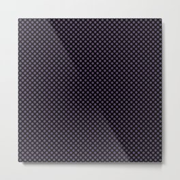 Black and Loganberry Polka Dots Metal Print