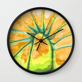 Radiating Pulse from a Higher Destination Wall Clock