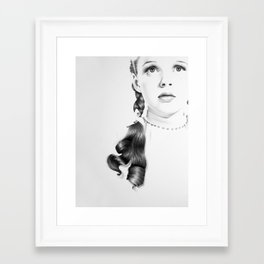 Judy Garland Minimal Drawing Framed Art Print