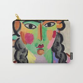 """Alexej von Jawlensky """"The pale girl with gray braids"""" 1916 Carry-All Pouch"""