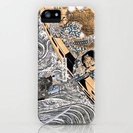 Kuniyoshi Utagawa, The ghost of Taira Tomomori, Daimotsu bay iPhone Case