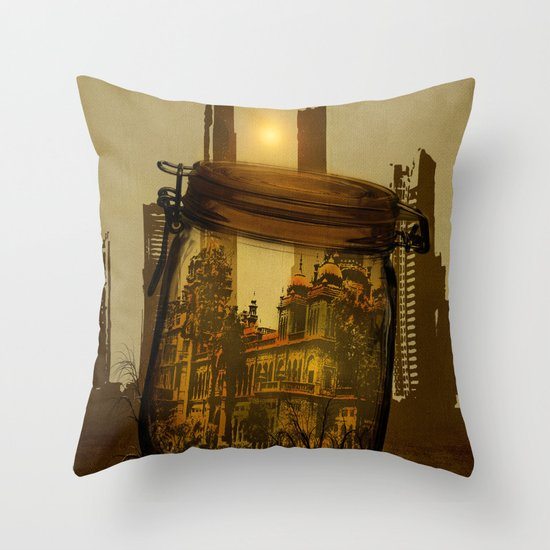 The last vintage city. Throw Pillow