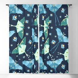 Magical Moth Night Blackout Curtain