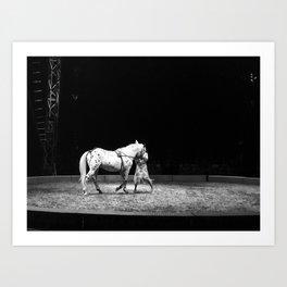 Circus Horse & Trainer Art Print