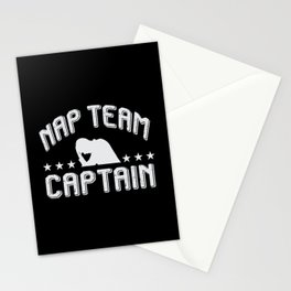 Funny Napping Design For Tired Warriors Stationery Cards