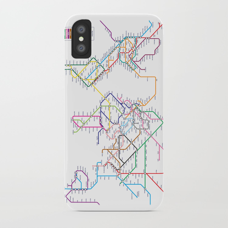 Subway Map Phone.World Metro Subway Map Iphone Case