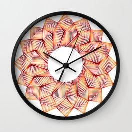 Threaded Lotus Wall Clock