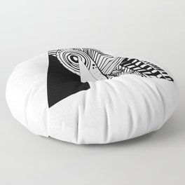 The letter A Floor Pillow