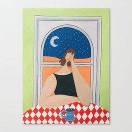 Low Self-Esteem & Caffiene Canvas Print